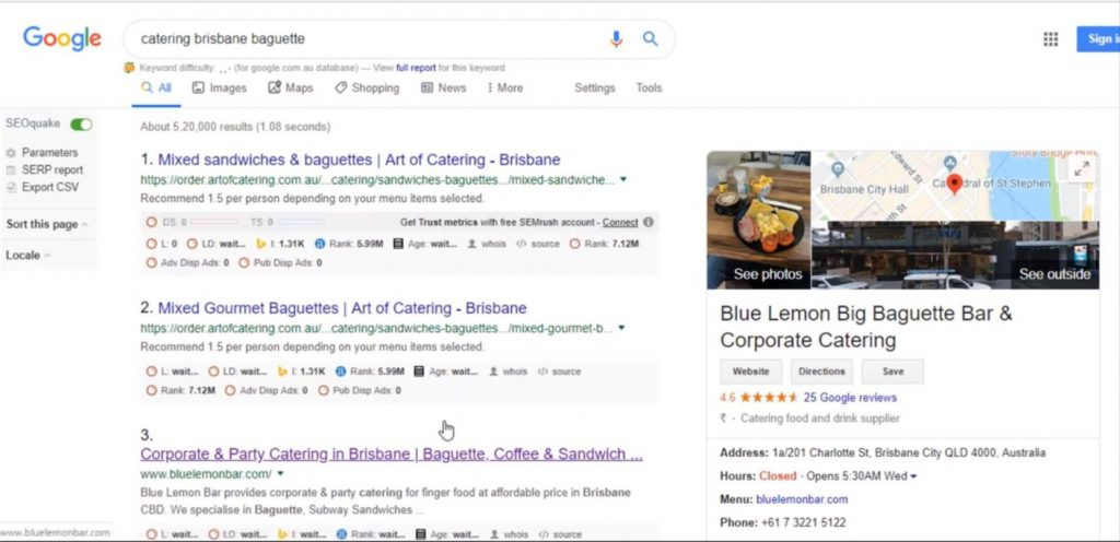 SEO - search engine optimization result